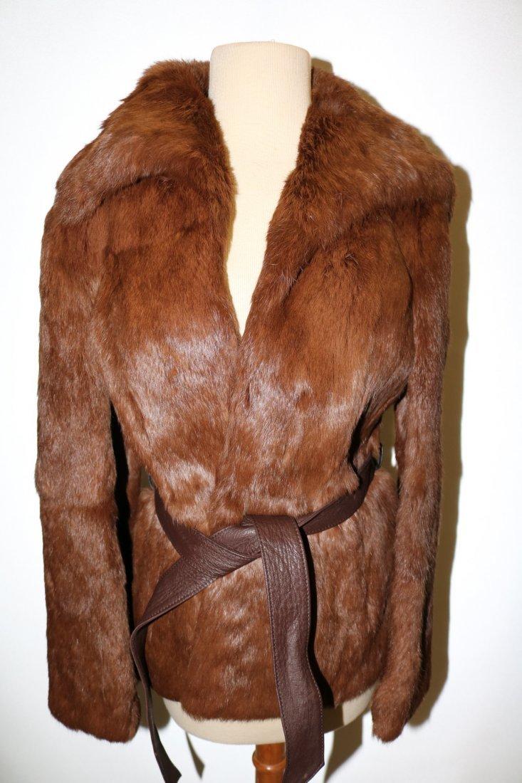 Vintage 1970s tawny brown super soft rabbit fur jacket