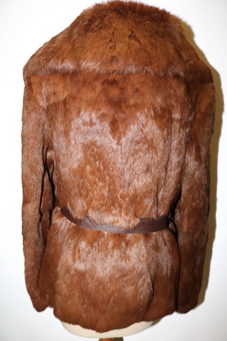 Vintage 1970s tawny brown super soft rabbit fur jacket - 4