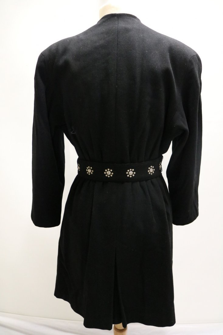 Vintage 1940's Woman's Black Coat with fancy studded - 4