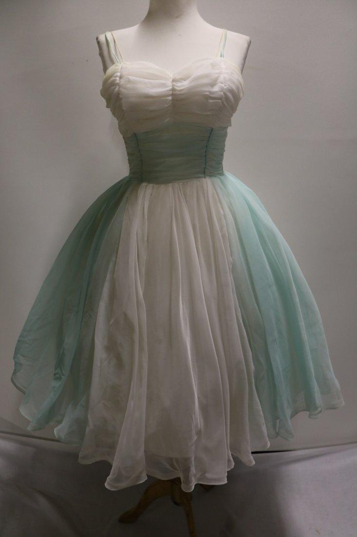 1950's Nylon Chiffon Sweat Heart Bodice Princess/Party