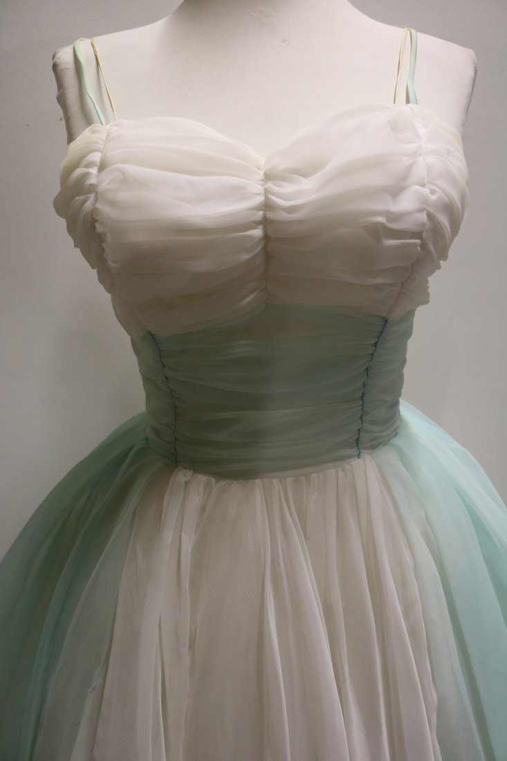 1950's Nylon Chiffon Sweat Heart Bodice Princess/Party - 2