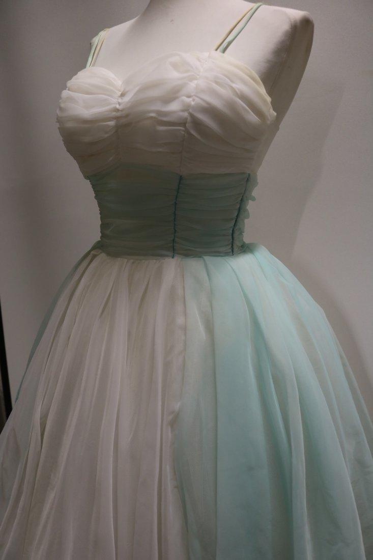 1950's Nylon Chiffon Sweat Heart Bodice Princess/Party - 3