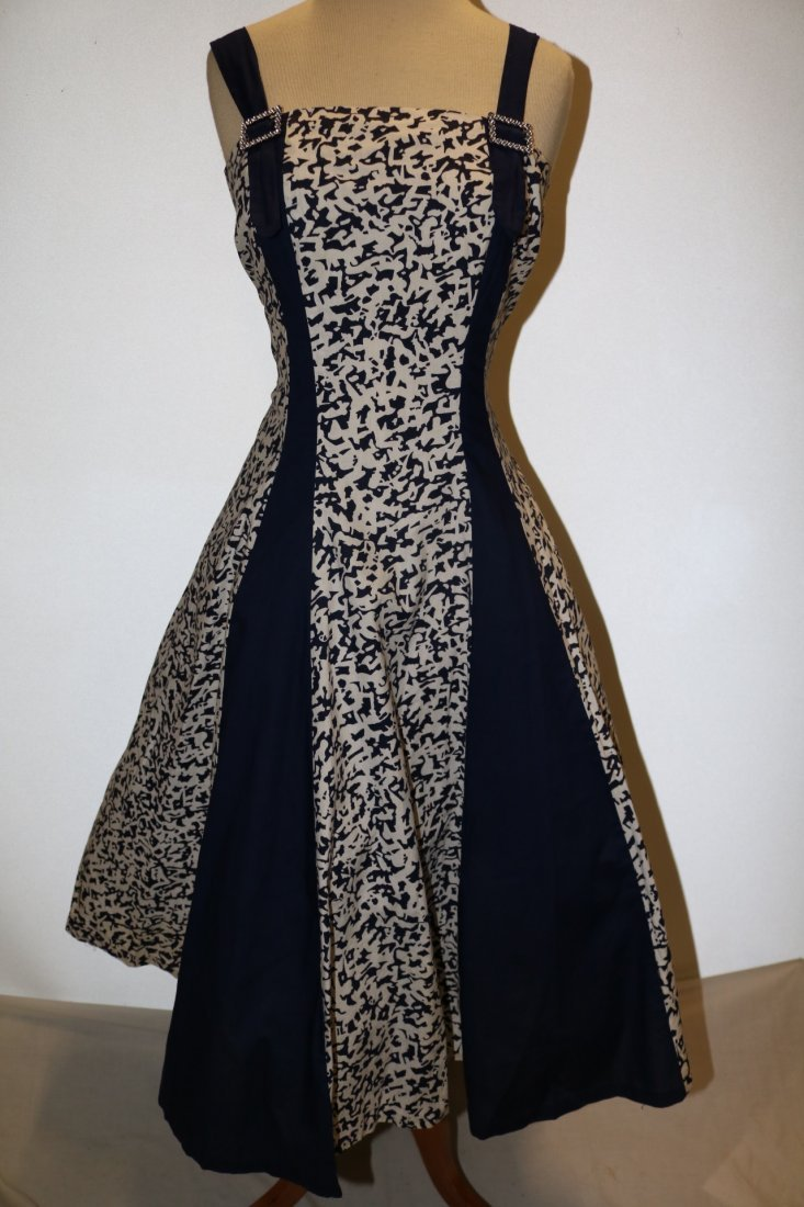 1950's Cotton Fit & Flare Dress by Royal Miss Fashions