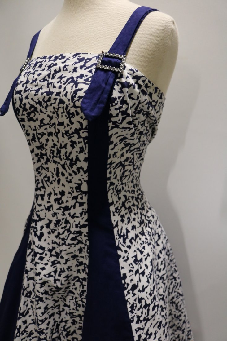 1950's Cotton Fit & Flare Dress by Royal Miss Fashions - 3