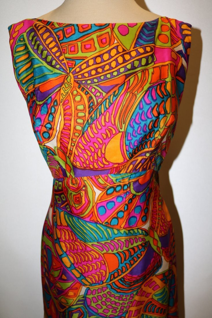 1960's Bright Colorful Classic Gown by Ira Curtis - 2