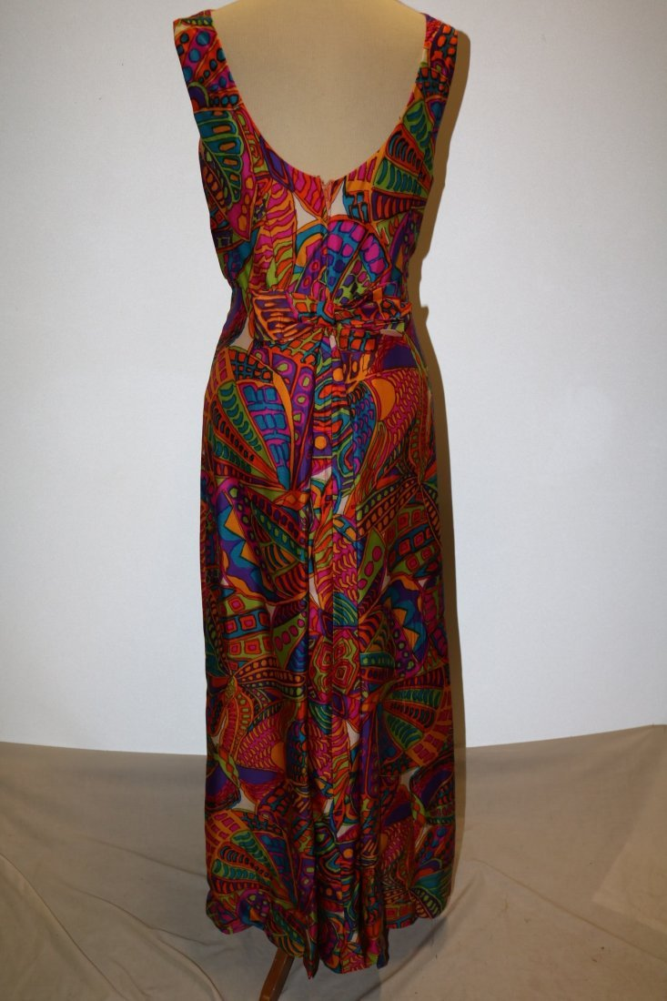 1960's Bright Colorful Classic Gown by Ira Curtis - 4