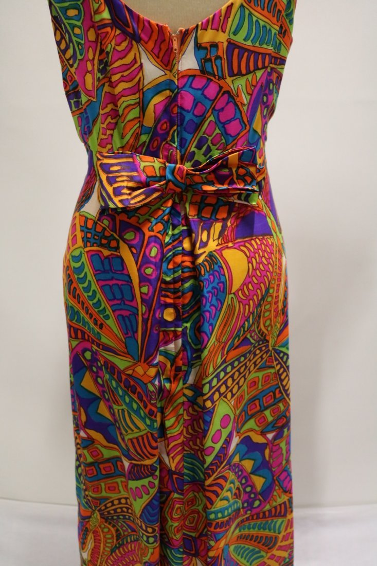 1960's Bright Colorful Classic Gown by Ira Curtis - 5
