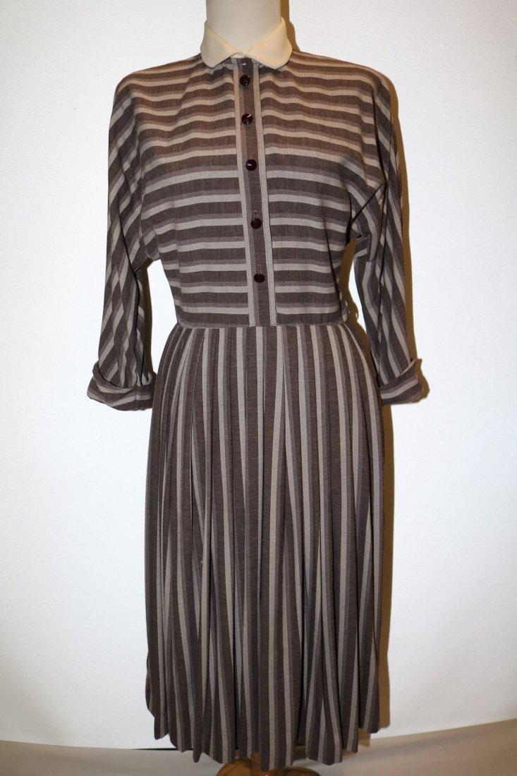 1940's Shirt Waist Dress with long Domain Sleeves