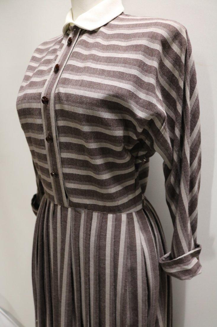 1940's Shirt Waist Dress with long Domain Sleeves - 3