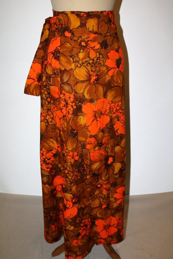 1960's Floral Maxi Wrap Skirt