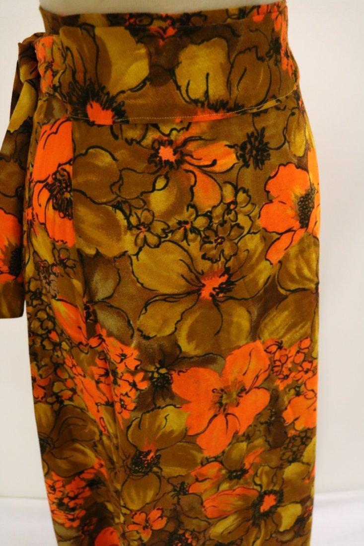 1960's Floral Maxi Wrap Skirt - 2