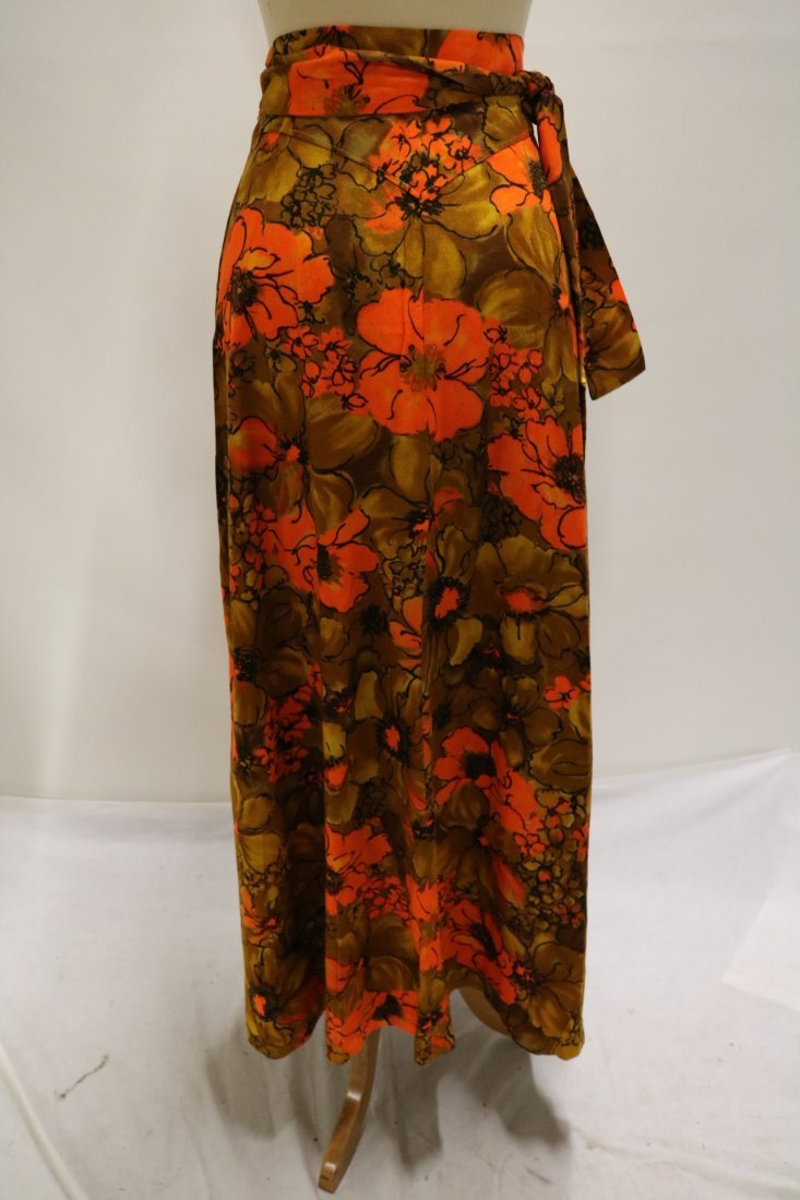 1960's Floral Maxi Wrap Skirt - 3