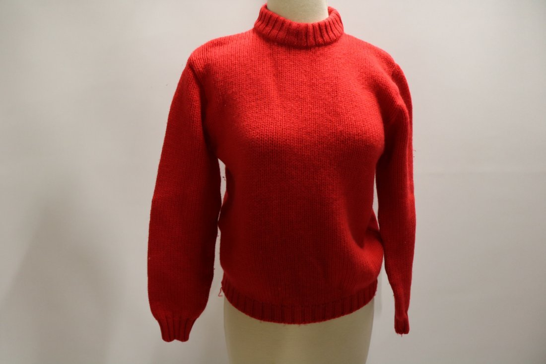Ladies Vintage Red Wool Knit Sweater by Garland