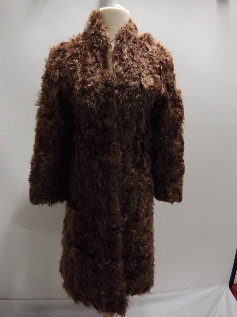 Vintage Ladies 1940/50's Curly Lamb Coat