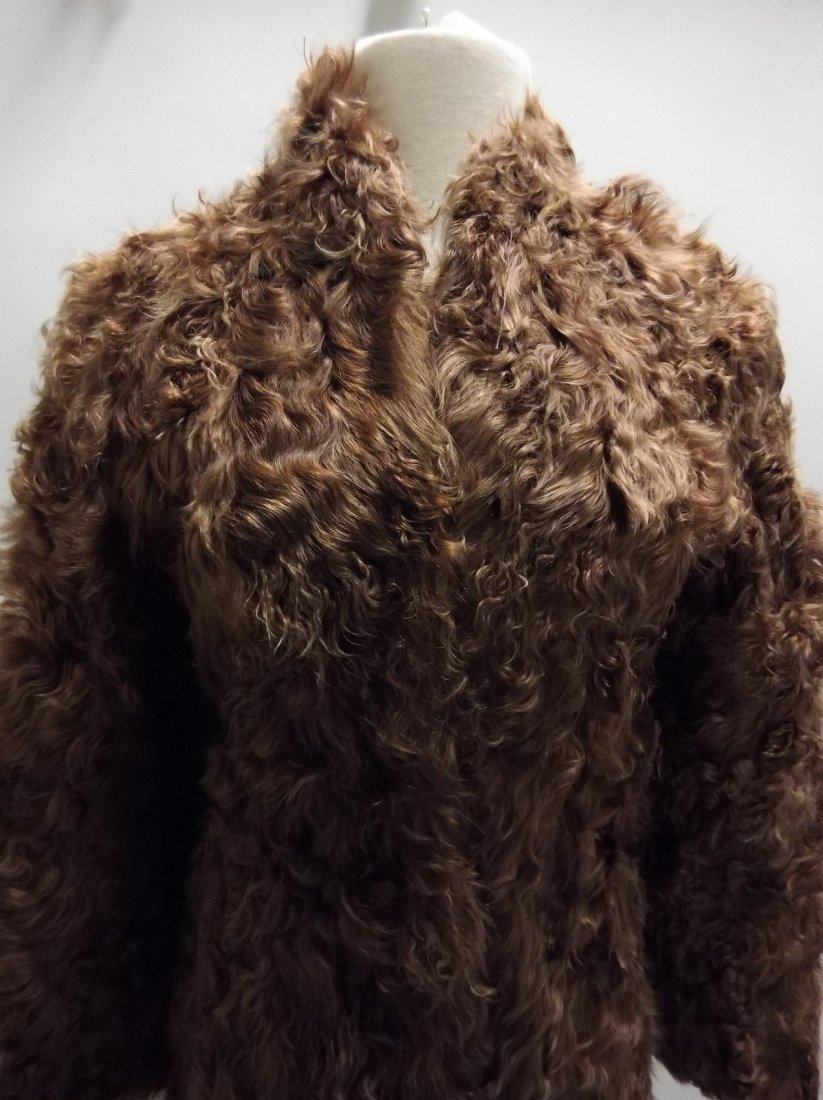 Vintage Ladies 1940/50's Curly Lamb Coat - 2
