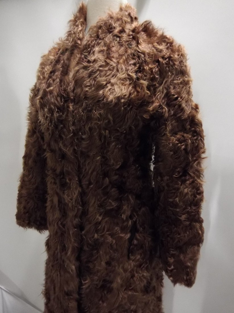 Vintage Ladies 1940/50's Curly Lamb Coat - 3