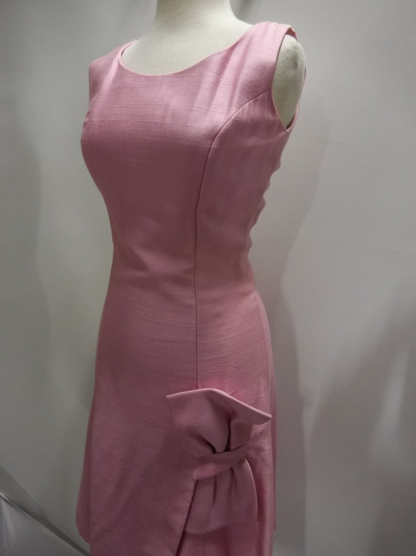 1960's Pink Classic Cocktail/Party Dress with large - 3