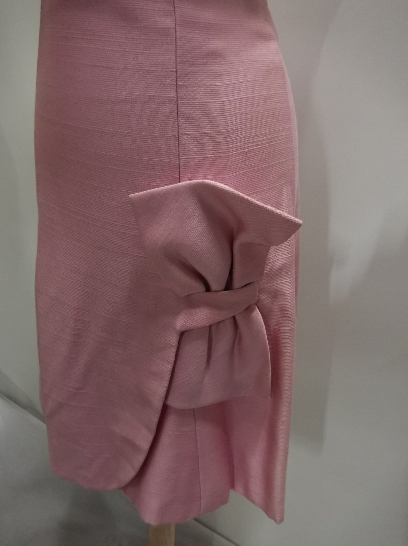 1960's Pink Classic Cocktail/Party Dress with large - 4