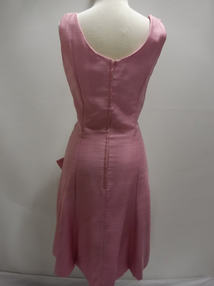 1960's Pink Classic Cocktail/Party Dress with large - 5