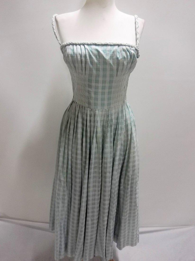 1950's Cotton Braided Spaghetti Strap Dress