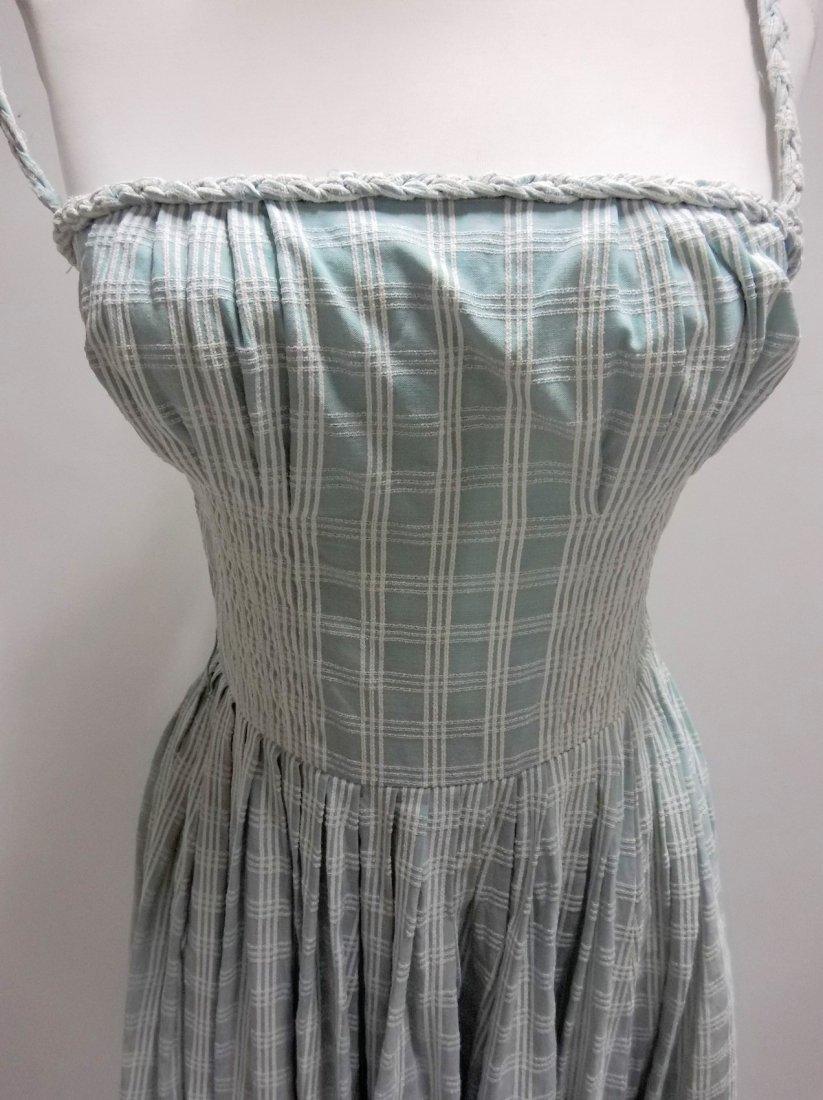 1950's Cotton Braided Spaghetti Strap Dress - 2