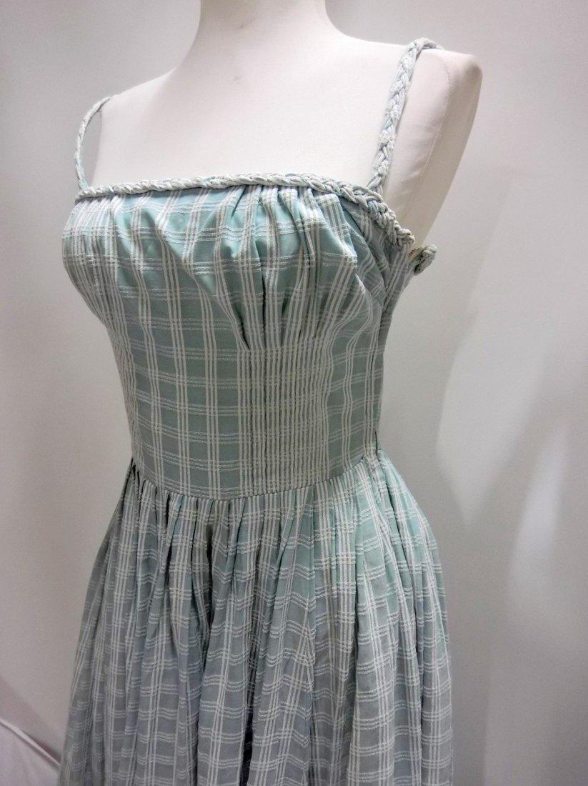 1950's Cotton Braided Spaghetti Strap Dress - 3