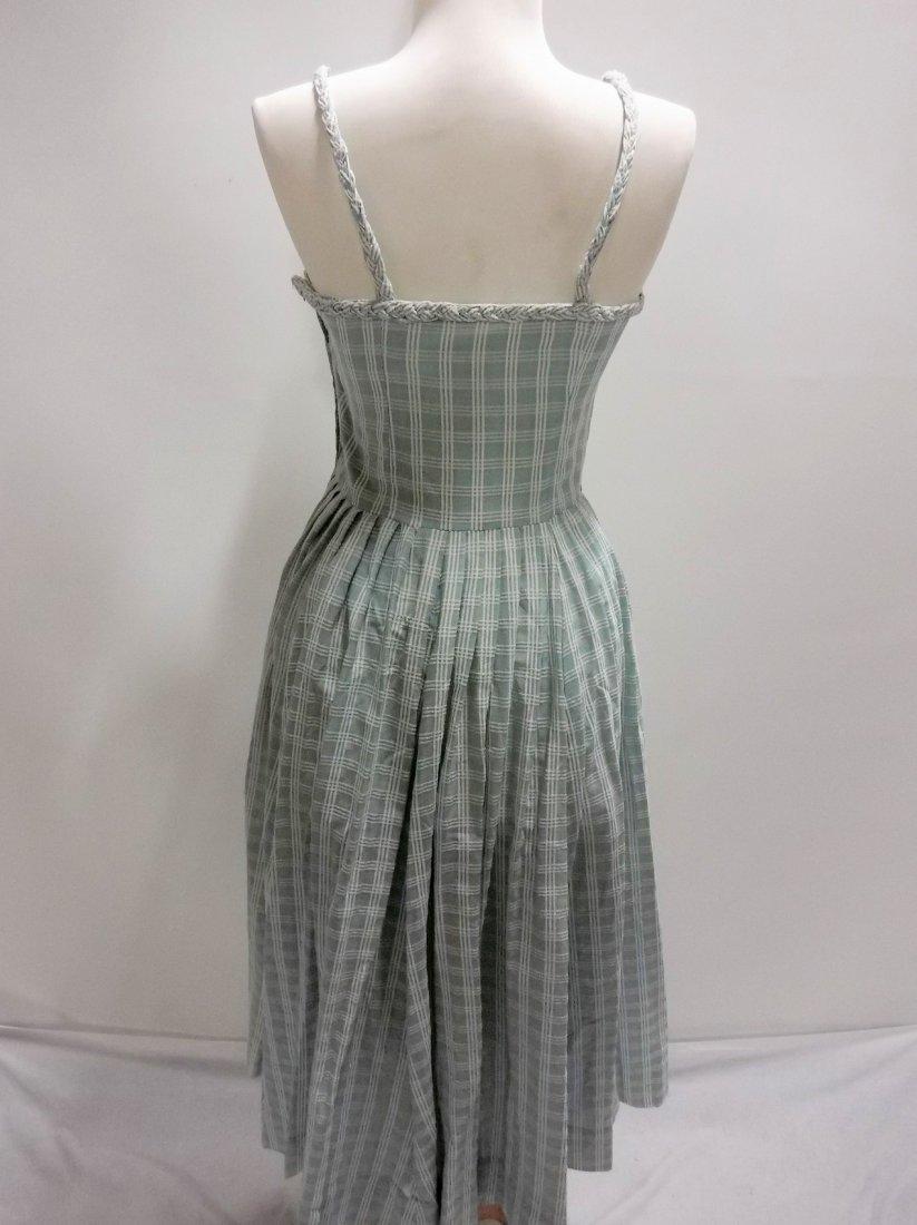 1950's Cotton Braided Spaghetti Strap Dress - 4