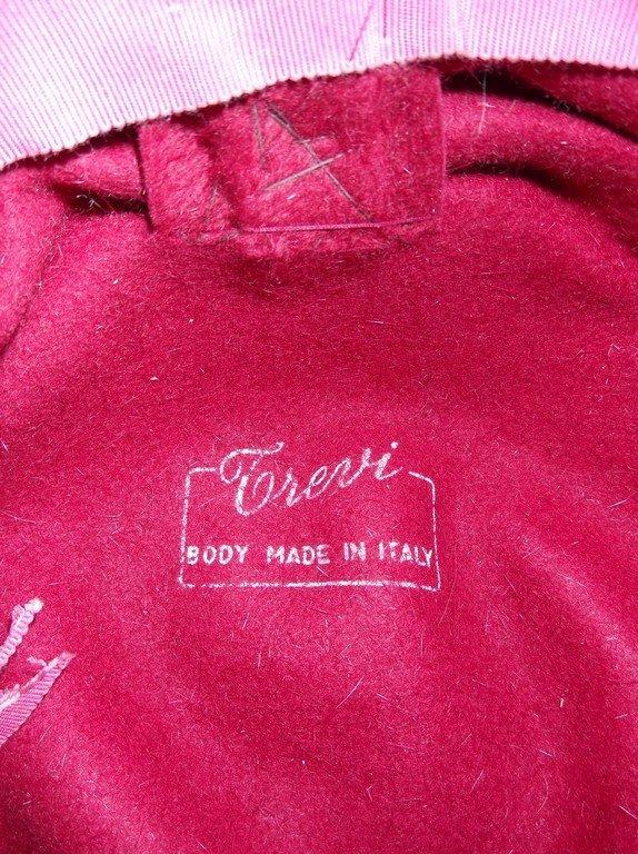 vintage 1950s  Frank Olive hot pink deep red plush - 6