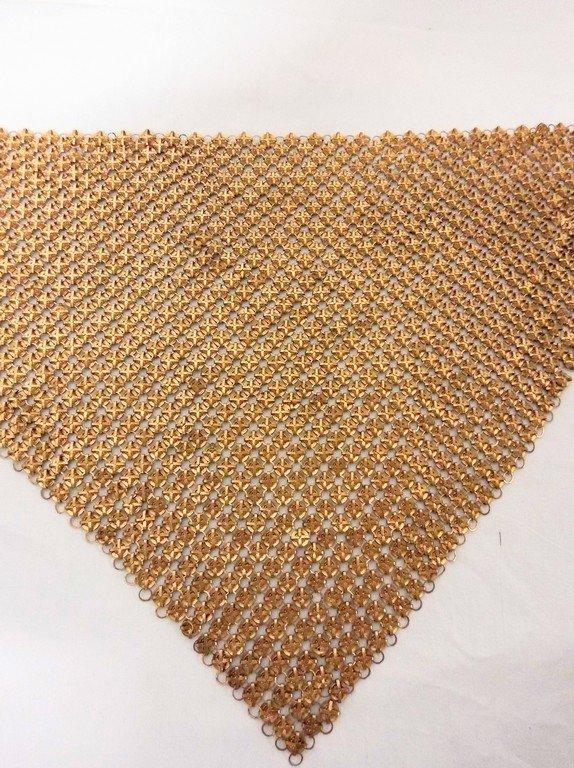 Mesh Metal Collar circa 1920, unmarked - 4