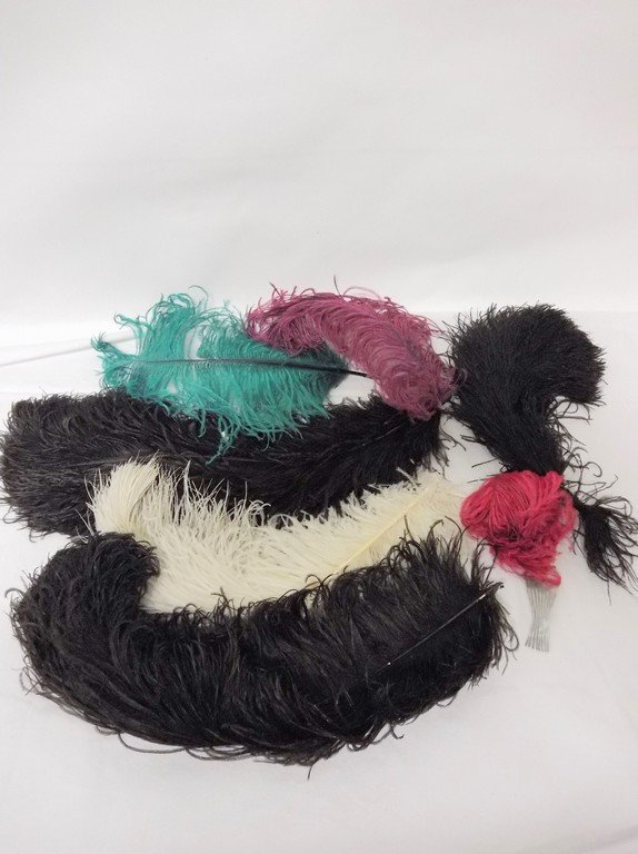 Lot of Vintage Ostrich Feathers, 7 pieces