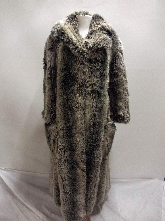 Vintage Faux Fur Coat full Length by Ilie Wacs