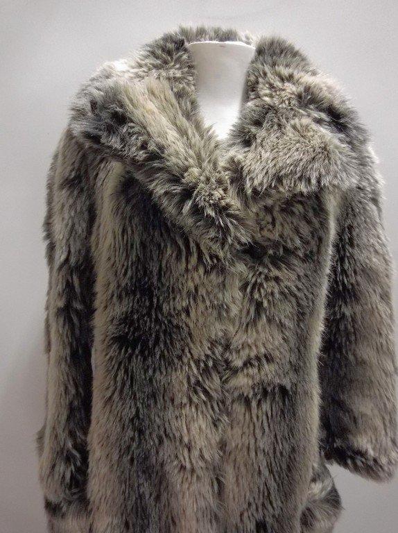 Vintage Faux Fur Coat full Length by Ilie Wacs - 2