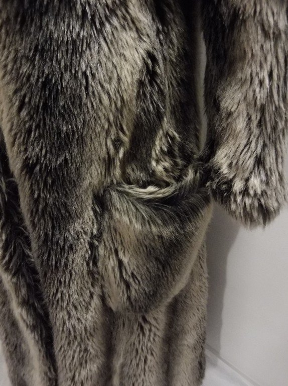 Vintage Faux Fur Coat full Length by Ilie Wacs - 3