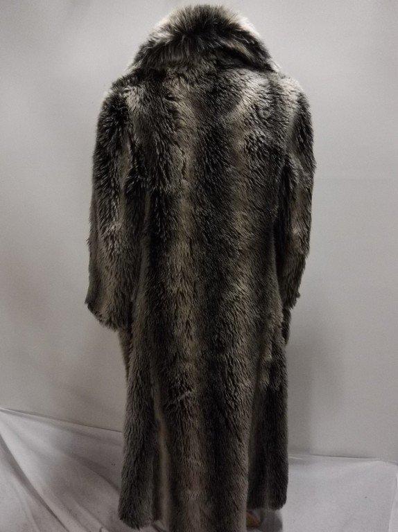Vintage Faux Fur Coat full Length by Ilie Wacs - 4