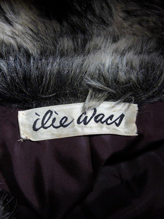 Vintage Faux Fur Coat full Length by Ilie Wacs - 5