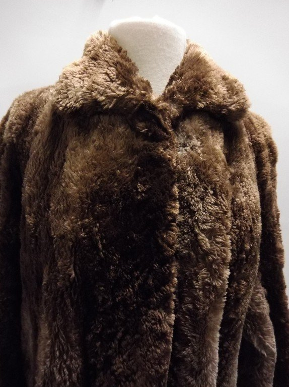 Full Length Vintage circa 1940's Fur Swing Coat from - 2