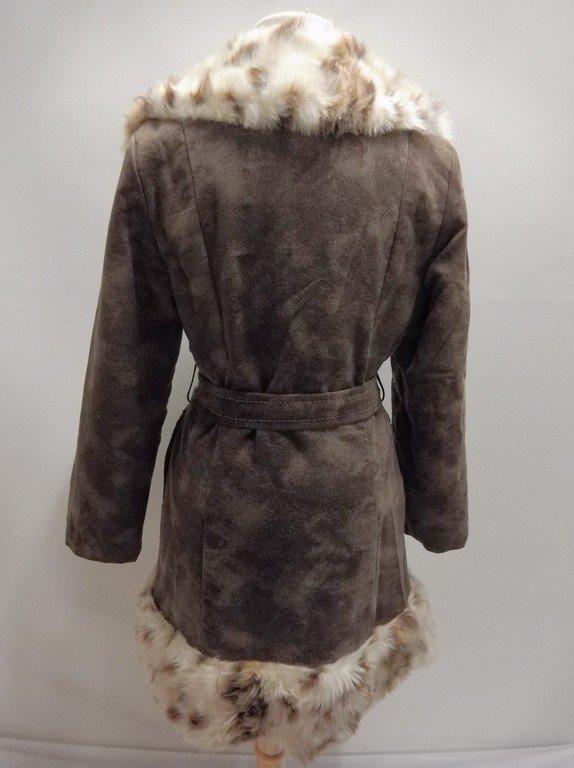 1970's Plush Cotton Coat with Faux Fur Animal Print - 4