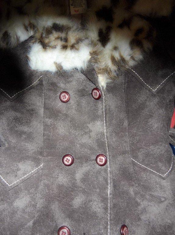 1970's Plush Cotton Coat with Faux Fur Animal Print - 5