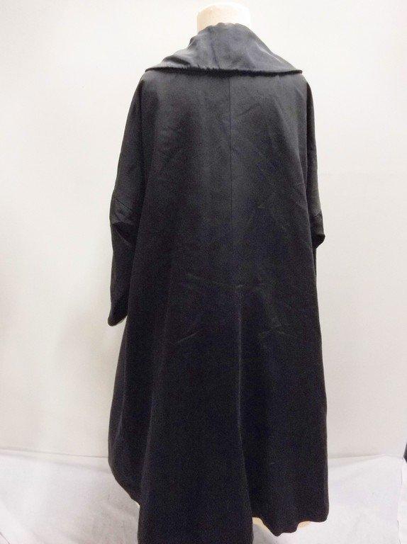 1940's Black Faille Clutch Swing Coat by Lamsons - 5
