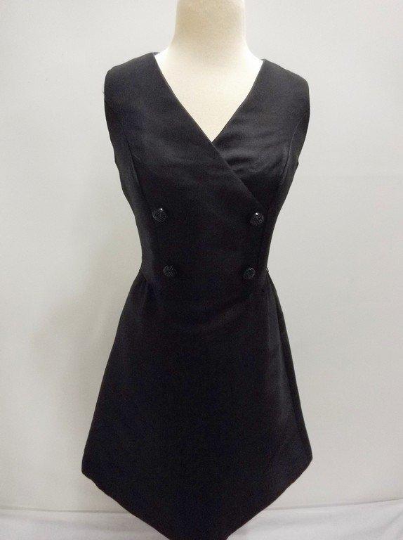 1960's Black Sleeveless Sheath Cocktail Dress