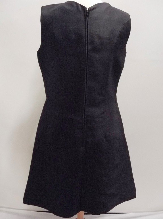 1960's Black Sleeveless Sheath Cocktail Dress - 3