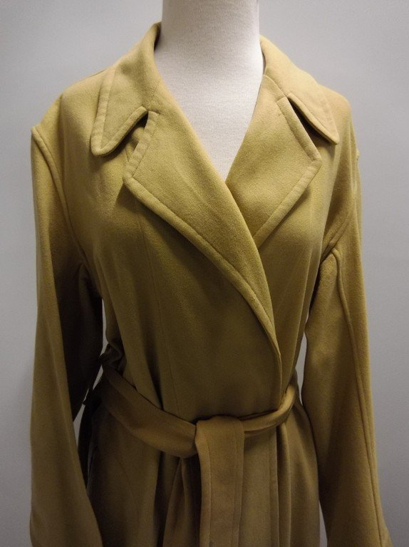Vintage 1940's Gold Wool Wrap Robe by Royal Robe - 2