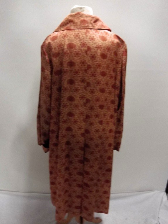1950's Floral Brown Silk/Acetate Light Weight Swing - 5