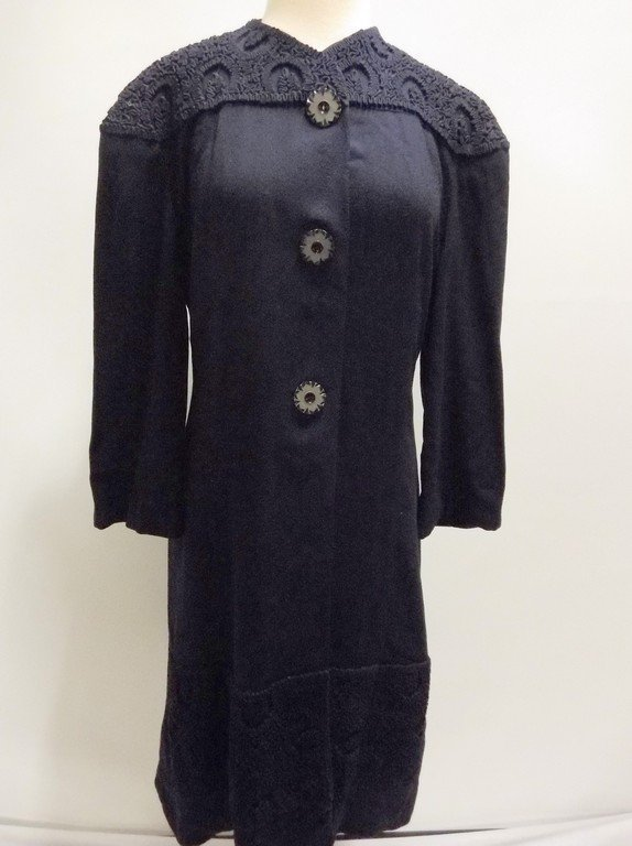 1940's Navy Blue Coat Dress