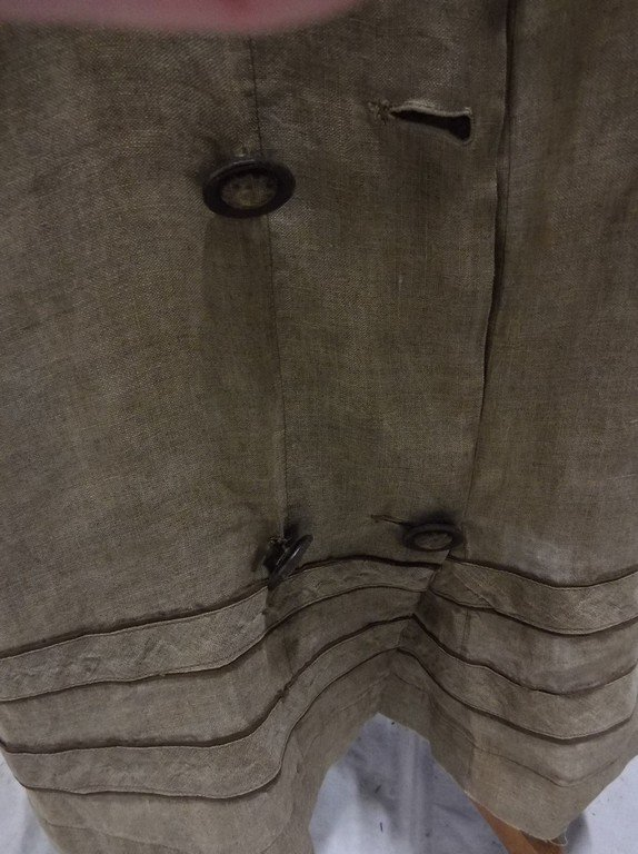 Ladies Full Length Early Linen Car Coat, with large - 5