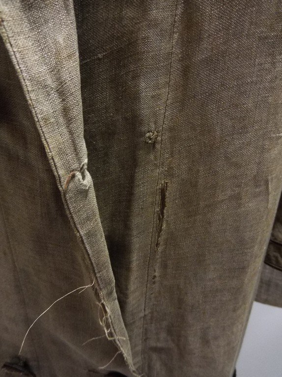 Ladies Full Length Early Linen Car Coat, with large - 6