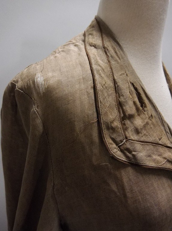 Ladies Full Length Early Linen Car Coat, with large - 7