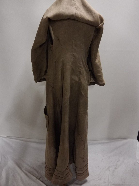 Ladies Full Length Early Linen Car Coat, with large - 9
