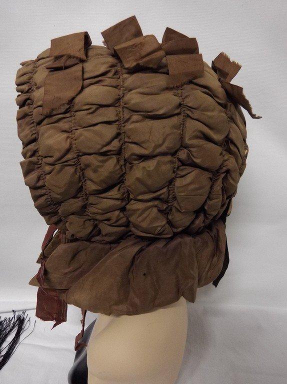 Early Civil War Era Bonnet in Brown with Satin Ribbon - 3