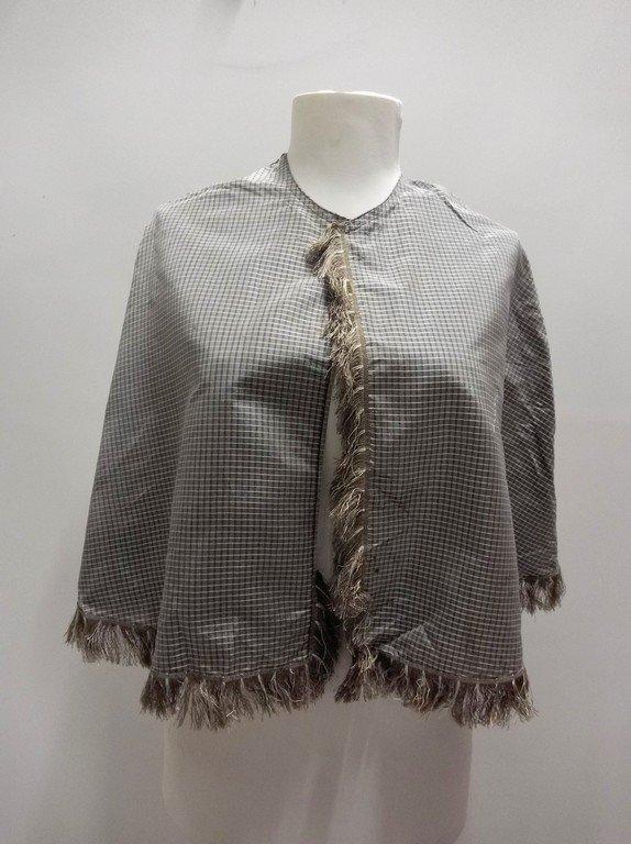 Civil War Era Silk Shawl with fringe Trim